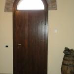Interno porta ingresso in Rovere anticato