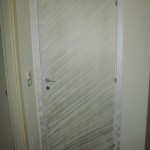 Porta laccata effetto alluminio