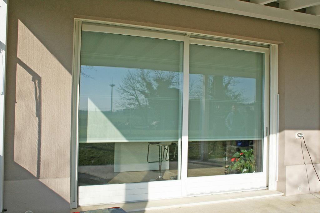1 alzante scorrevole con tenda frangisole elettrica - Tende per porta finestra scorrevole ...