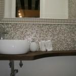 mensola da bagno castagno spazzolato tinto